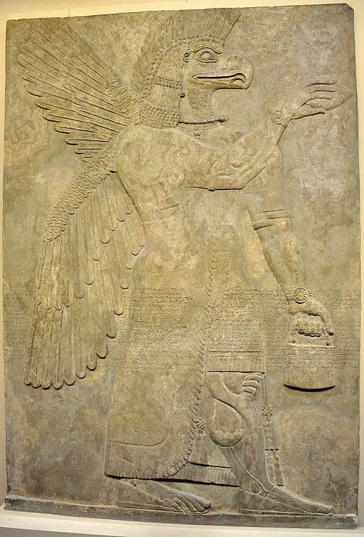 Wall_relief_depicting_an_eagle-headed_and_winged_man,_Apkallu,_from_Nimrud-2..JPG