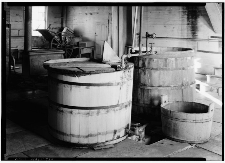 Historic_American_Buildings_Survey_N._E._Baldwin,_Photographer_December_28,_1939_LARGE_TUBS_FOR_BOILING_CLOTHES_IN_LAUNDRY,_ALSO_SHAKER_MADE_TUB_-_Shaker_Church_Family_Washhouse_HABS_MASS,2-HANC,14-19.tif.jpg